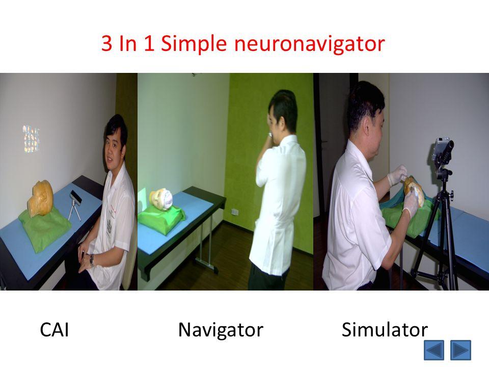 3 In 1 Simple neuronavigator CAI Navigator Simulator