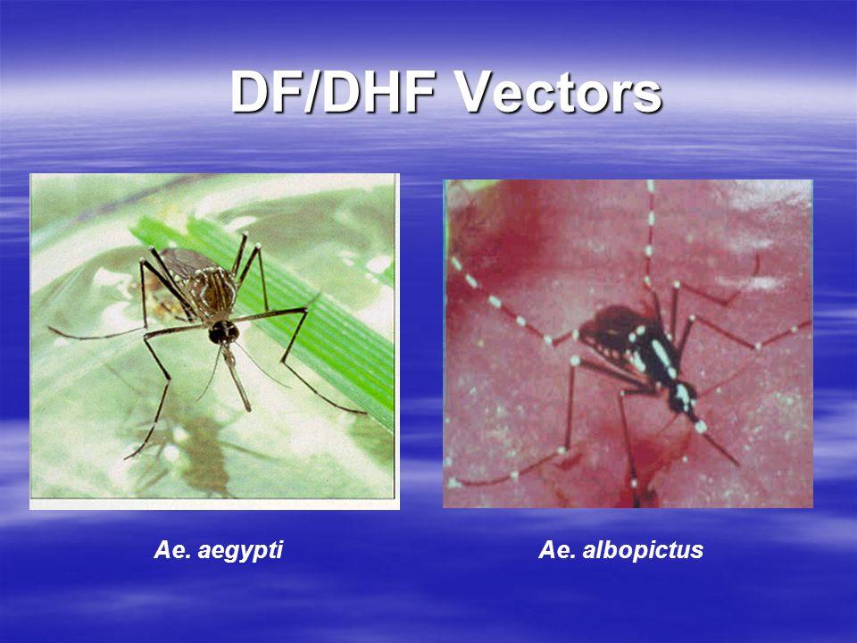 DF/DHF Vectors Ae. aegyptiAe. albopictus