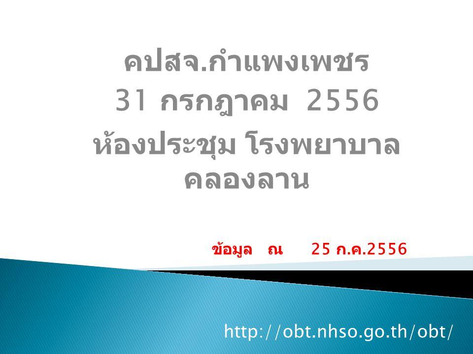 http://obt.nhso.go.th/obt/ คปสจ.
