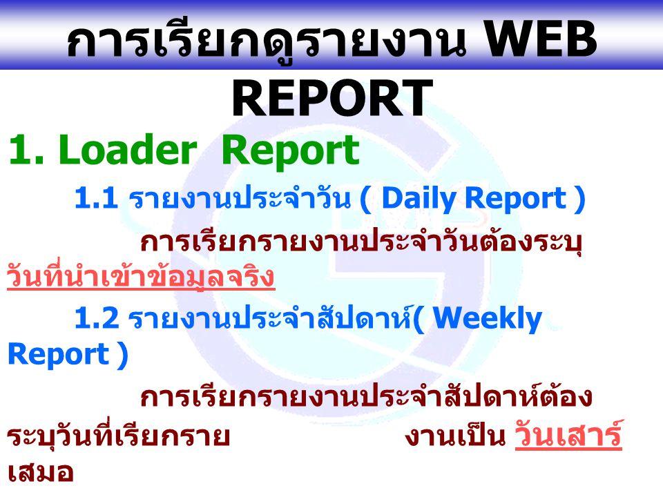www.gfmis.go.th ตัวอย่าง รายงานประจำวัน (Loader Report)