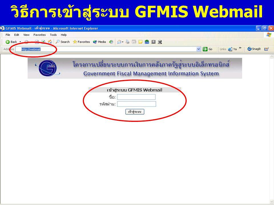 www.gfmis.go.th กรมบัญชี กลาง วิธีการเข้าสู่ระบบ GFMIS Webmail
