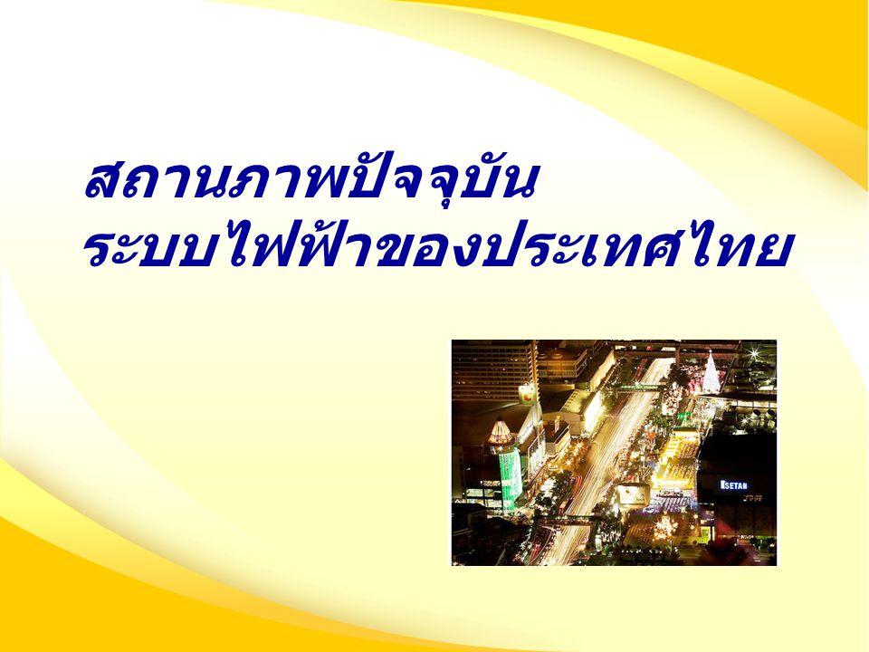 สถานภาพปัจจุบัน ระบบไฟฟ้าของประเทศไทย