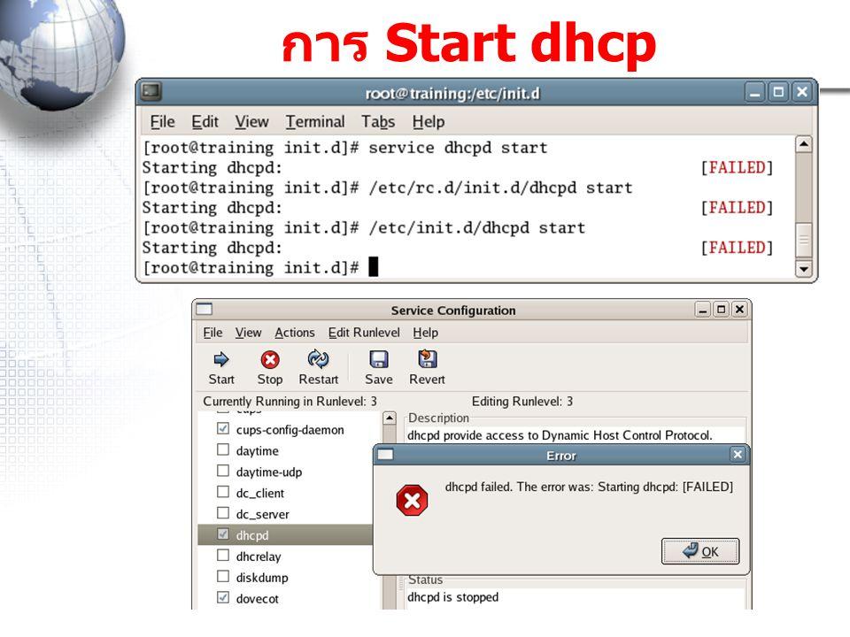การ Start dhcp