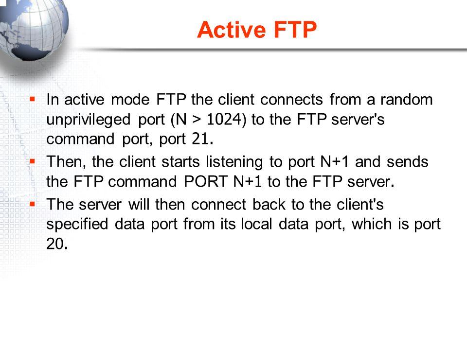ตัวอย่างการกำหนด Passive FTP