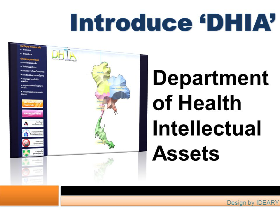 Department of Health Intellectual Assets Design by IDEARY