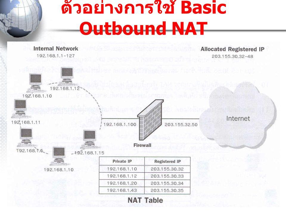 ตัวอย่างการใช้ Basic Outbound NAT