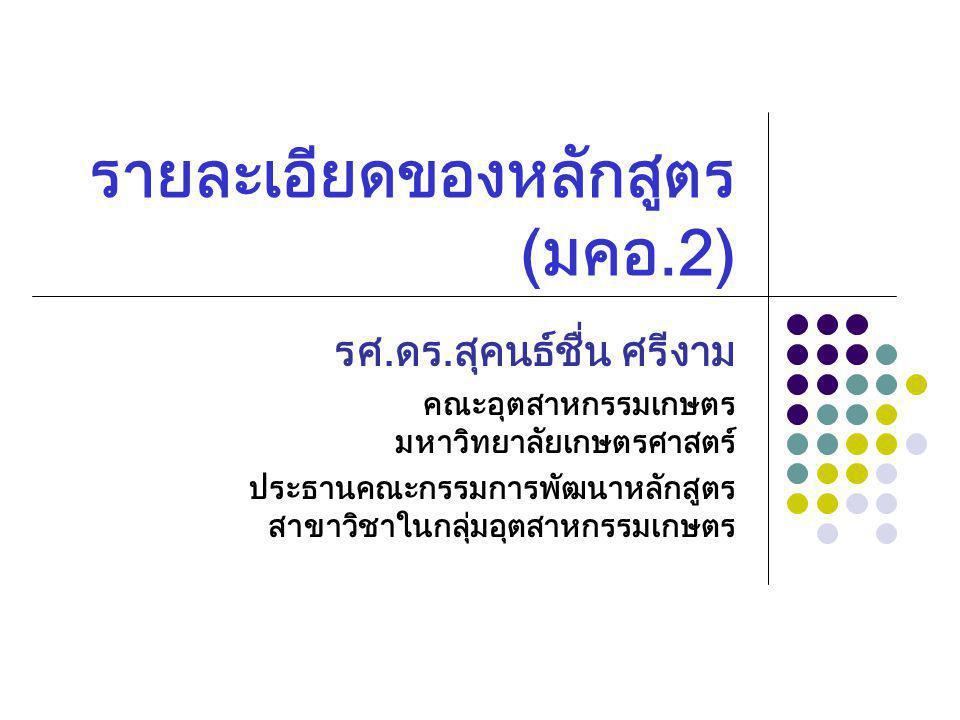 22 หมวดที่ 3.ระบบการจัดการศึกษา การดำเนินการ และโครงสร้างหลักสูตร 1.