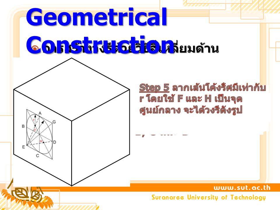  การสร้างวงรีด้วยวิธีสี่เหลี่ยมด้าน ขนาน Geometrical Construction
