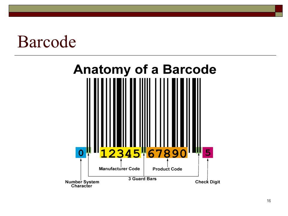 16 Barcode