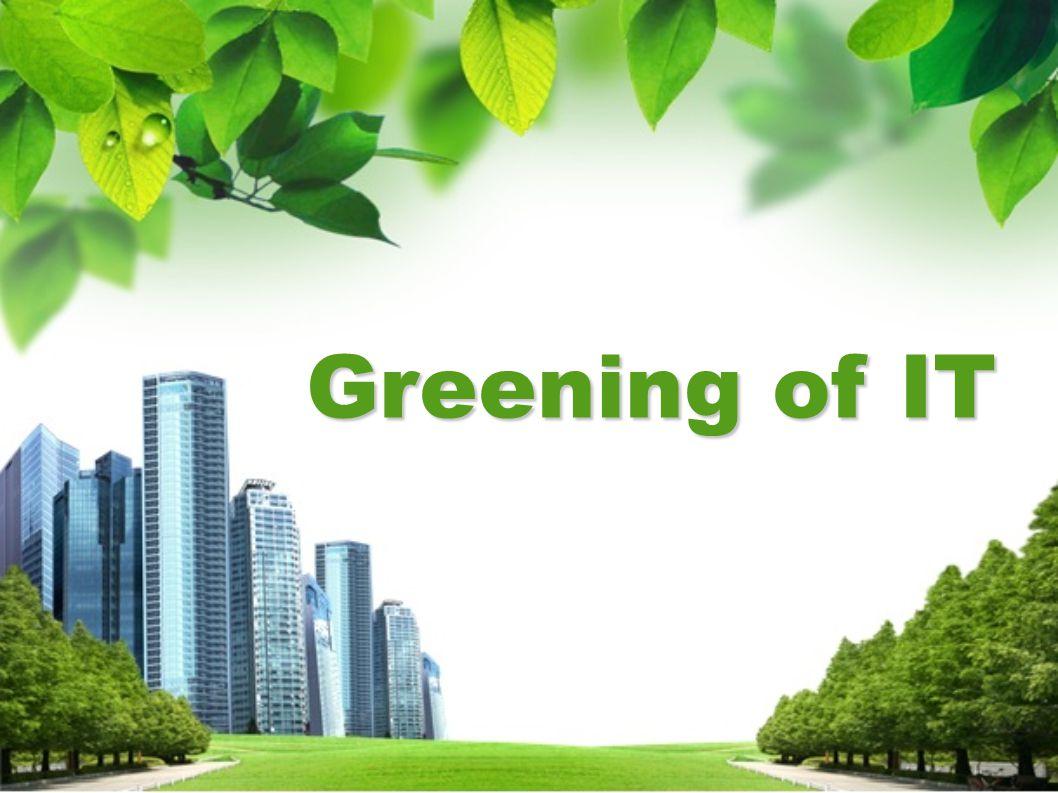 การตื่นตัวกับปัญหาภาวะโลกร้อน (Global Warming) ที่ นับวันยิ่งเข้ามาใกล้ตัวผู้คนมากขึ้น ส่งผลให้แนวคิด Green IT เข้ามา มีส่วนร่วมในการแก้ปัญหาว ผู้ประกอบการในวงการไอทีและการ สื่อสาร หันมาให้ความสำคัญกับการผลิตสินค้าที่ลดการก่อให้เกิด มลพิษ พร้อมกับคิดค้นนวัตกรรมใหม่ๆที่เป็นมิตรกับสิ่งแวดล้อมมาสร้าง จุดขายทางการตลาดให้เข้ากับกระแสการรณรงค์ลดภาวะโลกร้อนใน ปัจจุบัน บริษัทวิจัยชั้นนำอย่างการ์ทเนอร์ระบุชัดเจนว่า ปีนี้ Green IT จะเป็น เทรนด์เทคโนโลยีที่มาแรง โดยจะเห็นอุปกรณ์ทั้งฮาร์ดแวร์และ ซอฟต์แวร์ที่ ออกแบบมาเพื่ออนุรักษ์สิ่งแวดล้อมมากขึ้น เช่น กินไฟน้อยลงและ เพิ่มประสิทธิภาพการทำงานมากขึ้น ซึ่งก็ถือเป็นแนวทางหนึ่งใน การลดใช้พลังงานเช่นกัน หลักการ