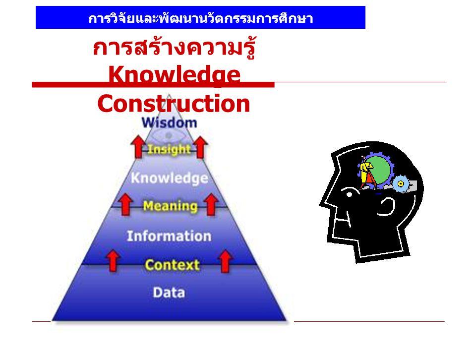 การสร้างความรู้ Knowledge Construction การวิจัยและพัฒนานวัตกรรมการศึกษา
