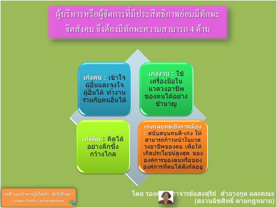 โดย รองศาสตราจารย์แสงสุรีย์ สำอางกูล และคณะ ( สงวนลิขสิทธิ์ ตามกฎหมาย ) 12 3