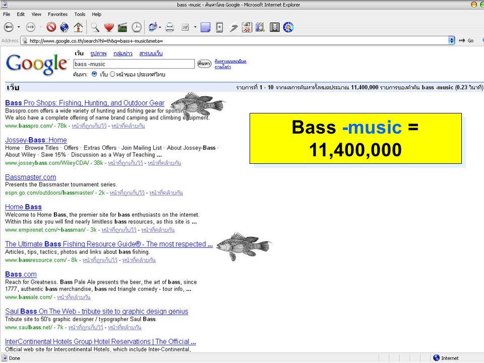 Bass -music = 11,400,000