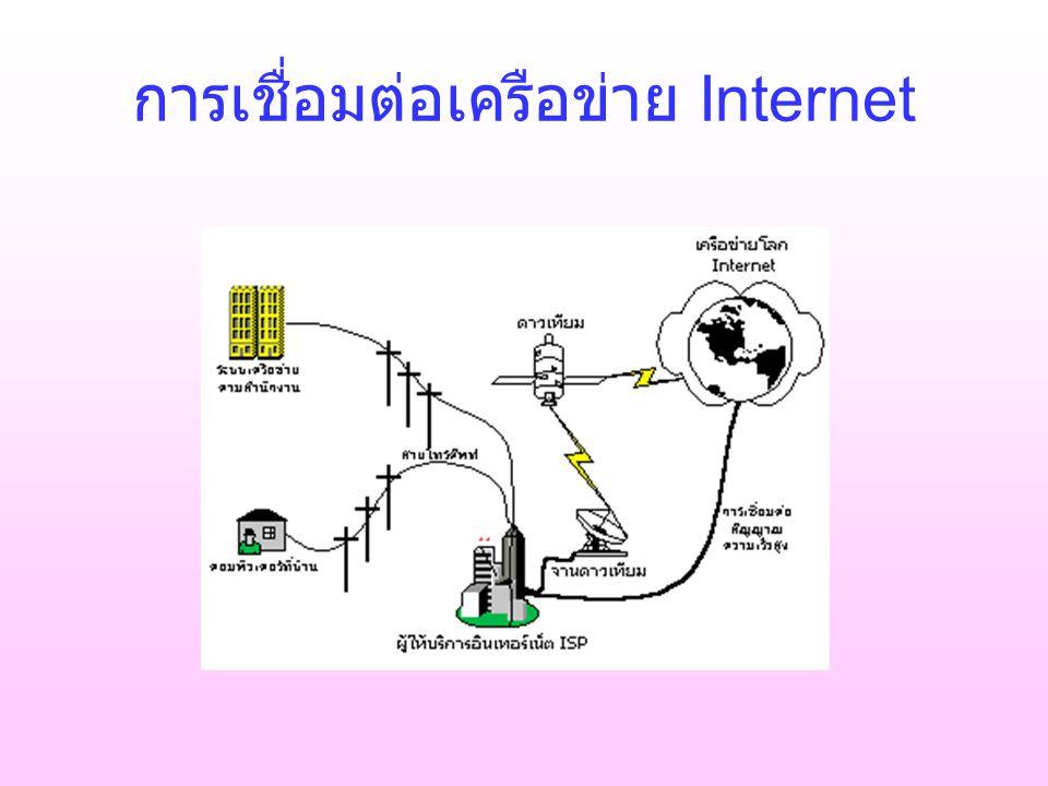 การเชื่อมต่อเครือข่าย Internet