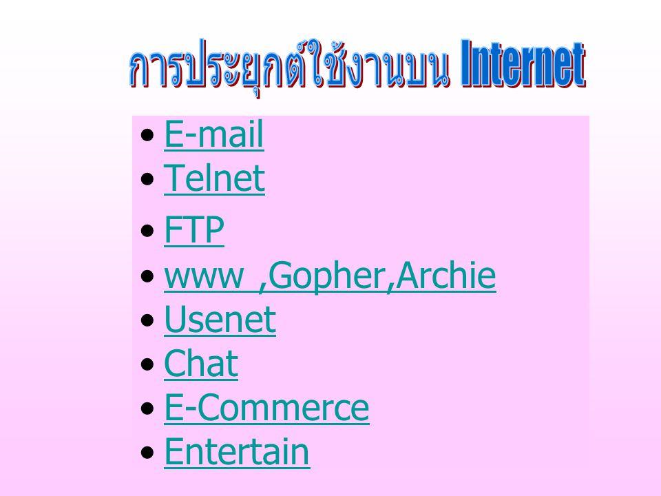 ไปรษณีย์อิเล็กทรอนิกส์ หรือ E-mail (Electronic Mail) เป็นการส่ง จดหมายอิเล็กทรอนิกส์ ผ่าน เครือข่ายอินเทอร์เน็ต ตลอดจน สามารถ ส่งแฟ้มข้อมูล หรือไฟล์แนบ กับ อีเมล์ได้ด้วย E-mail