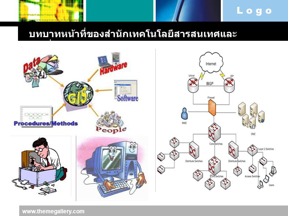 L o g o www.themegallery.com บทบาทหน้าที่ของสำนักเทคโนโลยีสารสนเทศและ การสื่อสาร