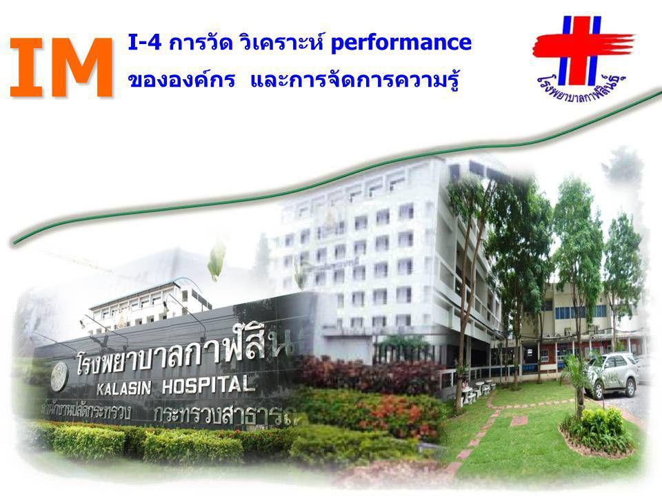 I-4 การวัด วิเคราะห์ performance ขององค์กร และการจัดการความรู้ IM