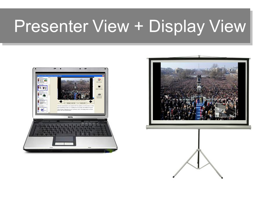Presenter View + Display View