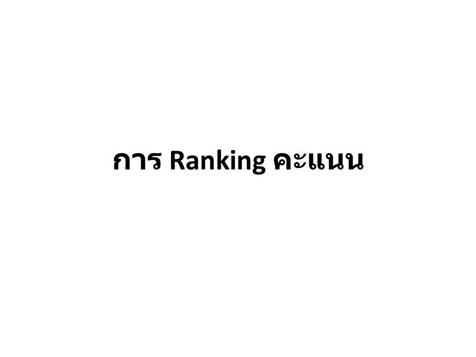 การ Ranking คะแนน