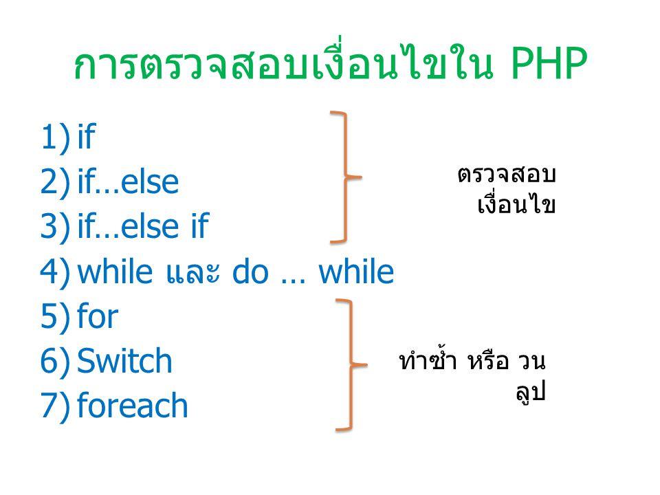 วนรอบการทำงานด้วย while while เงื่อนไ ข งานที่ต้อง ทำ รูปแบบคำสั่ง กำหนดค่าตัวแปรเริ่มต้น (Assignment Operators) while ( เหตุการณ์ Operator เหตุการณ์ ){ งานที่จะต้องทำ }