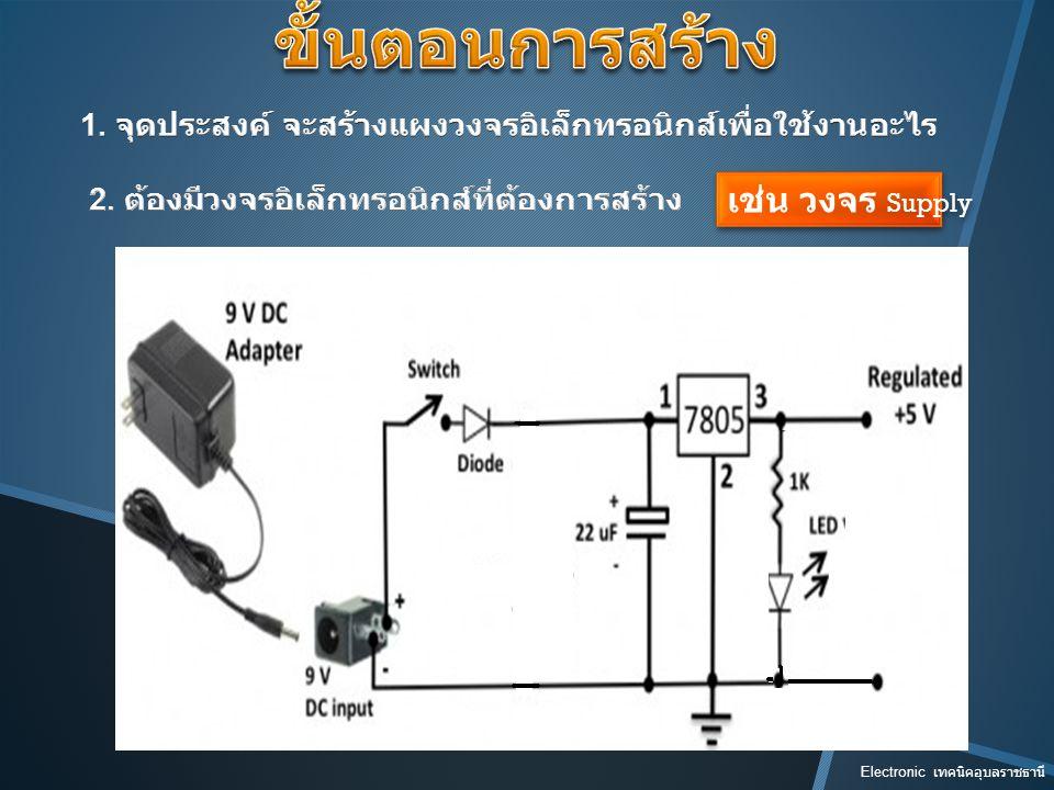 Electronic เทคนิคอุบลราชธานี รู้จักขา cathode Diode