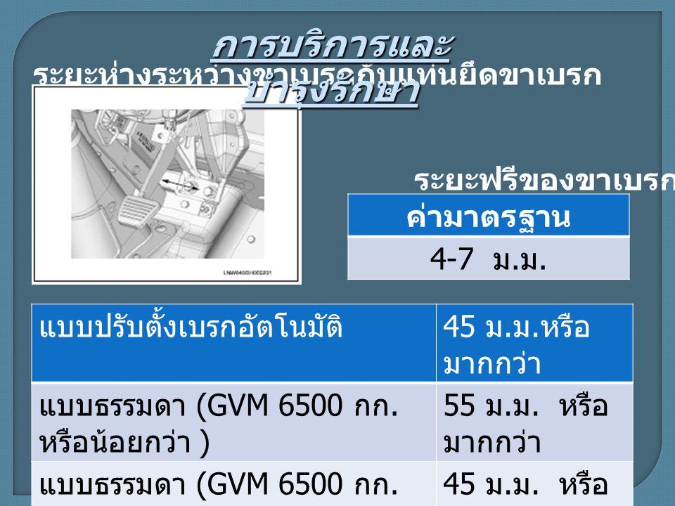 แบบปรับตั้งเบรกอัตโนมัติ 45 ม.ม. หรือ มากกว่า แบบธรรมดา (GVM 6500 กก.
