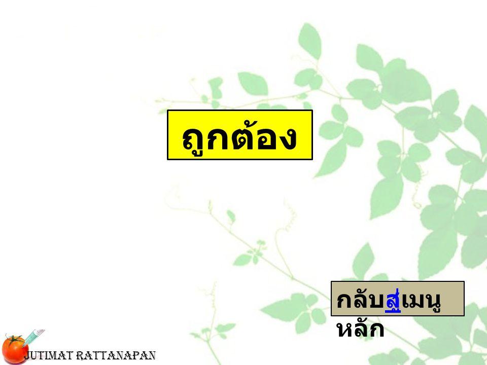 ถูกต้อง กลับสู่เมนู หลักสู่ Jutimat Rattanapan