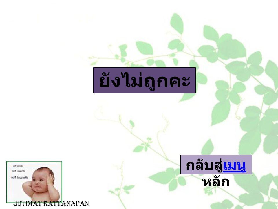ยังไม่ถูกคะ กลับสู่เมนู หลักเมนู Jutimat Rattanapan