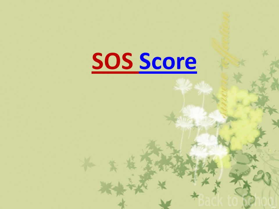 SOS ScoreScore