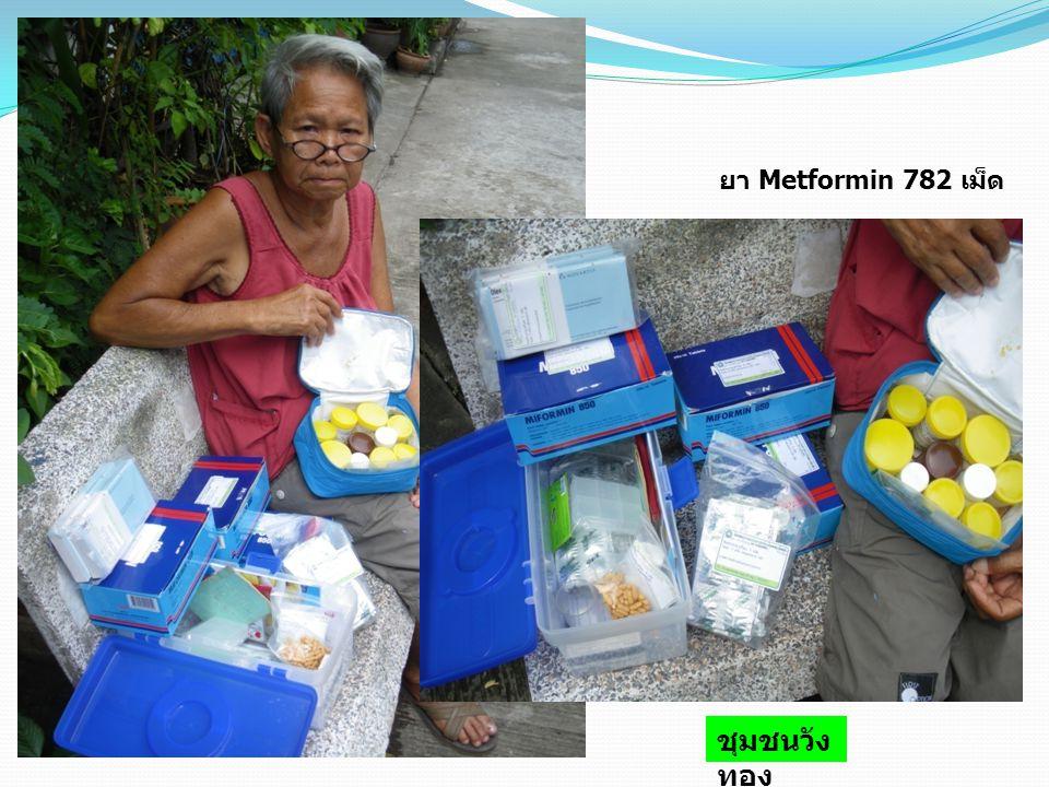 ยา Metformin 782 เม็ด ชุมชนวัง ทอง