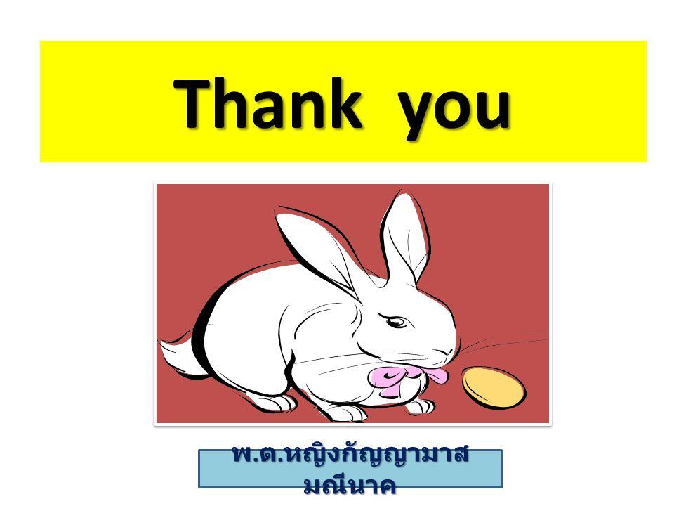Thank you พ. ต. หญิงกัญญามาส มณีนาค