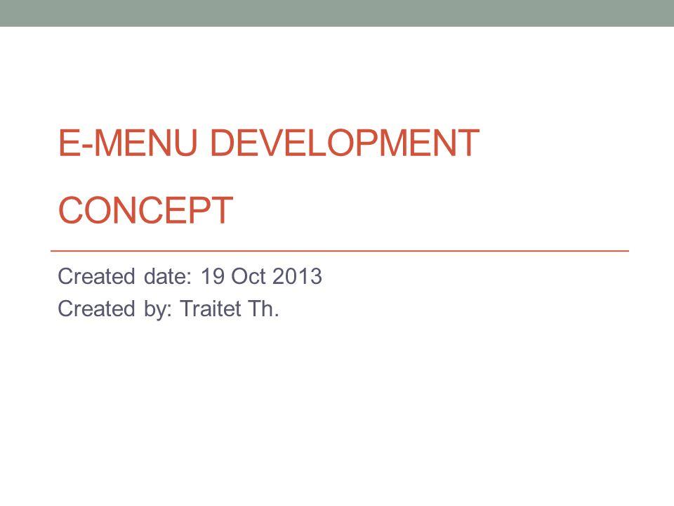 DOCUMENT CONTROL VersionDateEditorChanges 0.119 Oct 2013Traitet Th.Document Created 0.219 Oct 13Traitet Th.Updated Document