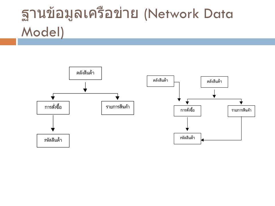 ฐานข้อมูลเครือข่าย (Network Data Model)