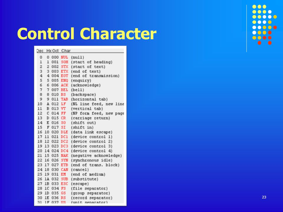 Control Character 23