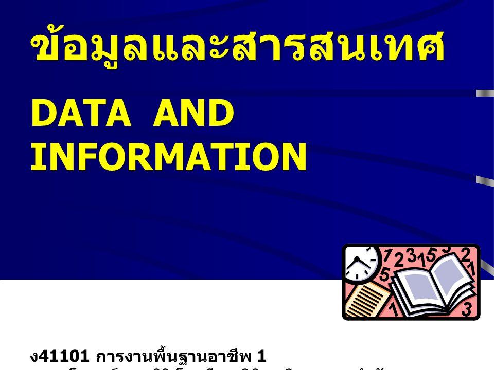 2 เนื้อหา ข้อมูลและสารสนเทศ กระบวนการจัดการข้อมูลและ สารสนเทศ INFORMATION TECHNOLOGY : IT