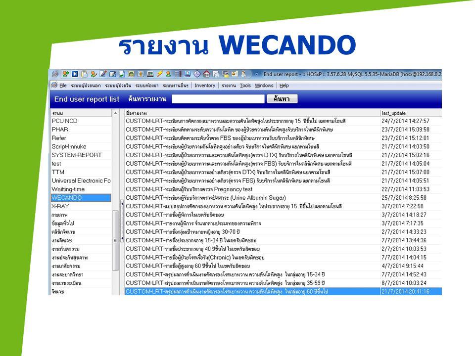 รายงาน WECANDO