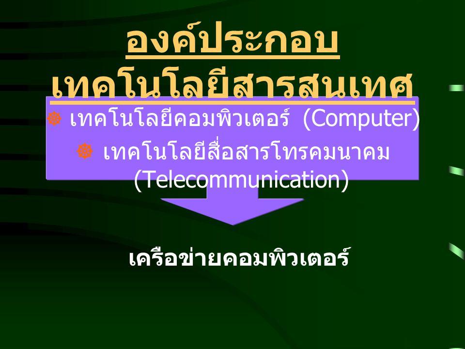 โปรแกรมระบบปฏิบัติการ (Operating System Software : OS องค์ประกอบของ ICT ซอฟต์แวร์ (Software)