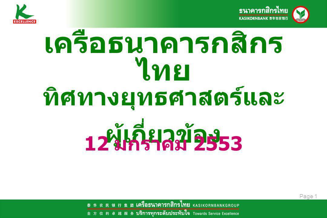 Page 2 เครือธนาคารกสิกรไทย สำหรับชีวิตวันนี้ และตลอดไป KASIKORNBANKGROUP: A people to simplify your life ทำให้ธุรกิจของลูกค้า เติบโต ก้าวหน้าอย่างไม่หยุดยั้ง เป็น ธุรกิจไร้ขีดจำกัด ทำให้ลูกค้าบุคคลสะดวก สบาย สมบูรณ์ เป็น ชีวิต เอกเขนก