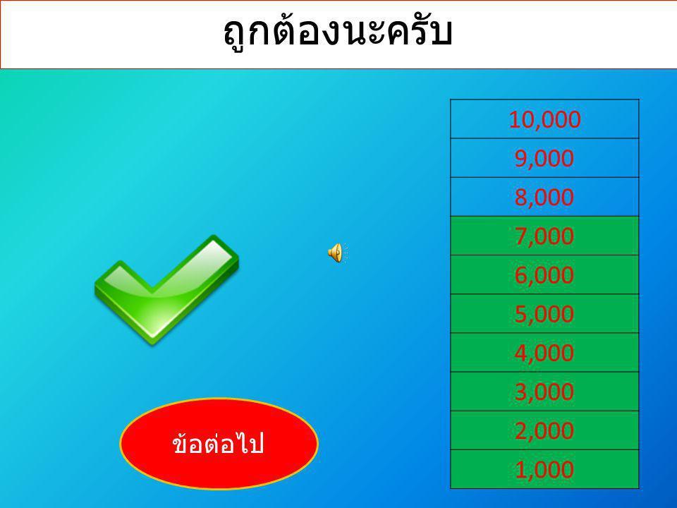 ถูกต้องนะครับ 10,000 9,000 8,000 7,000 6,000 5,000 4,000 3,000 2,000 1,000 ข้อต่อไป