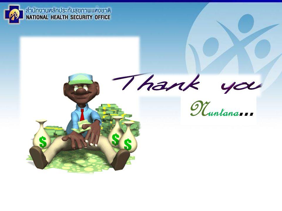 สำนักงานหลักประกันสุขภาพแห่งชาติ NATIONAL HEALTH SECURITY OFFICE สำนักงานหลักประกันสุขภาพแห่งชาติ NATIONAL HEALTH SECURITY OFFICE ระเบียบวาระ 3.3 สรุปการ ดำเนินงาน ระบบสวัสดิการการรักษาพยาบาล พนักงานส่วนท้องถิ่น N untana …