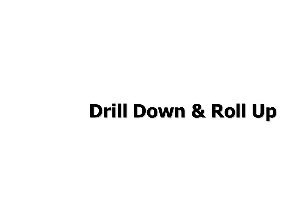 Drill Down & Roll Up