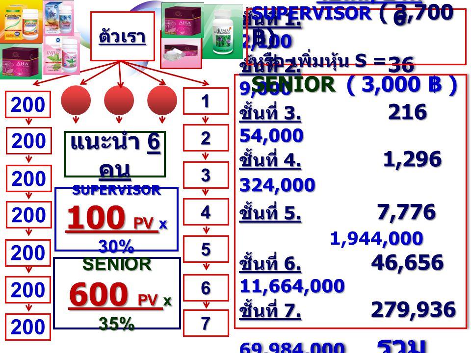 U ท่าน องค์กร ( คน ) โบนัส / บาท ชั้นที่ 1. 2 400 ชั้นที่ 2. 4 800 ชั้นที่ 3. 8 1,600 ชั้นที่ 4. 16 3,200 ชั้นที่ 5. 32 6,400 ชั้นที่ 6. 64 12,800 ชั้