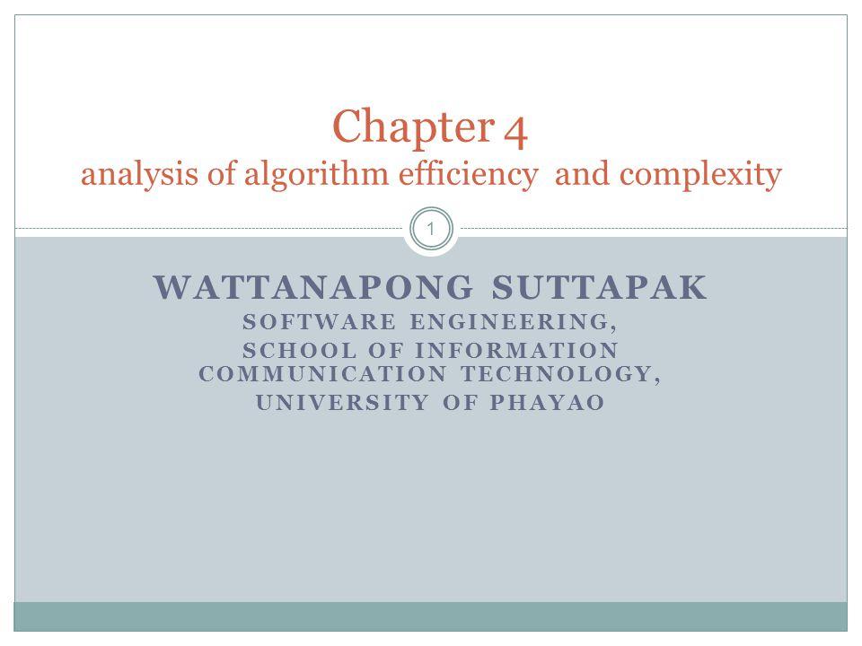 จุดประสงค์ บทเรียนที่ 4 2 สามารถวิเคราะห์ความซับซ้อนและประสิทธิภาพของอัลกอริทึมได้