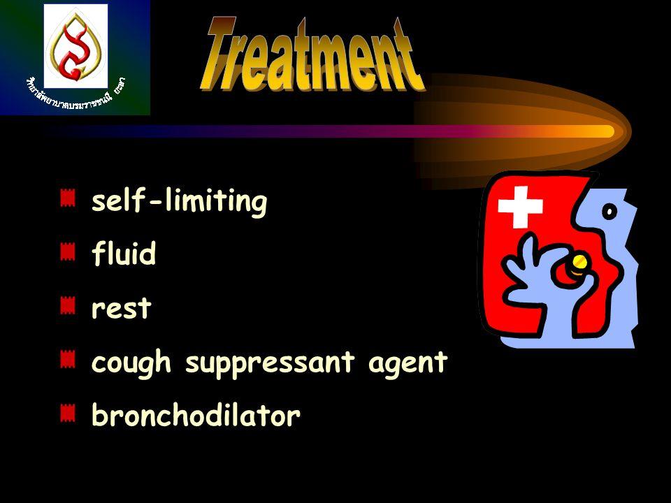 self-limiting fluid rest cough suppressant agent bronchodilator
