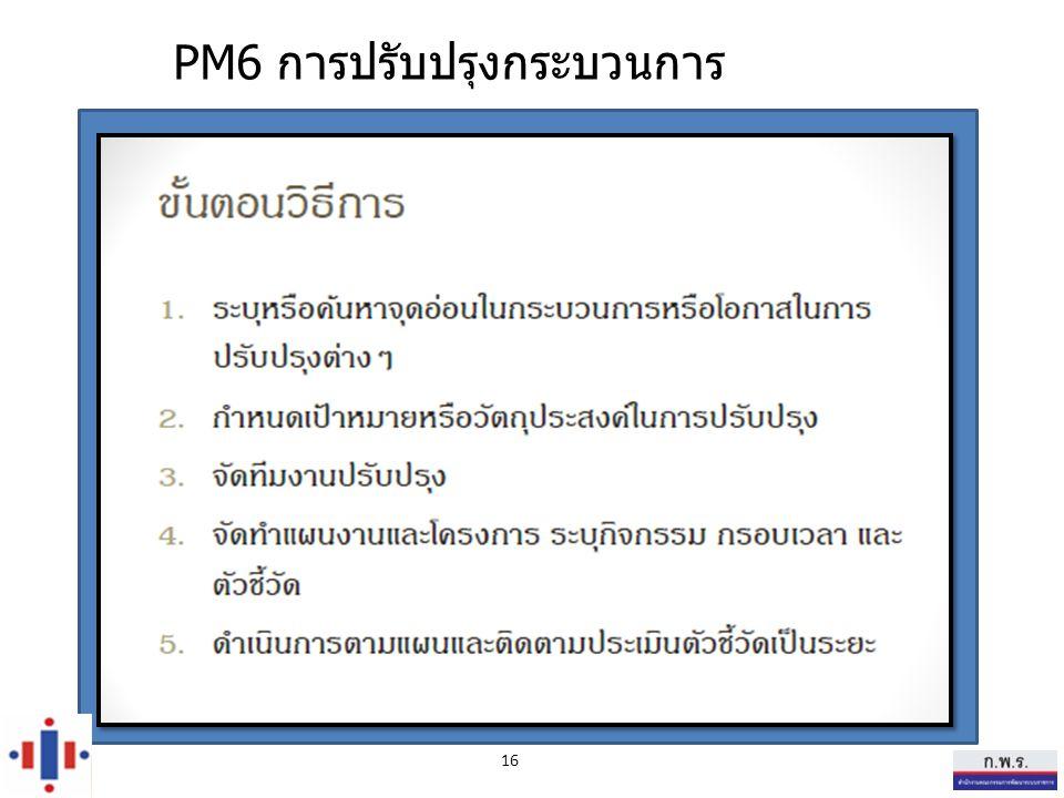 PM6 การปรับปรุงกระบวนการ 16