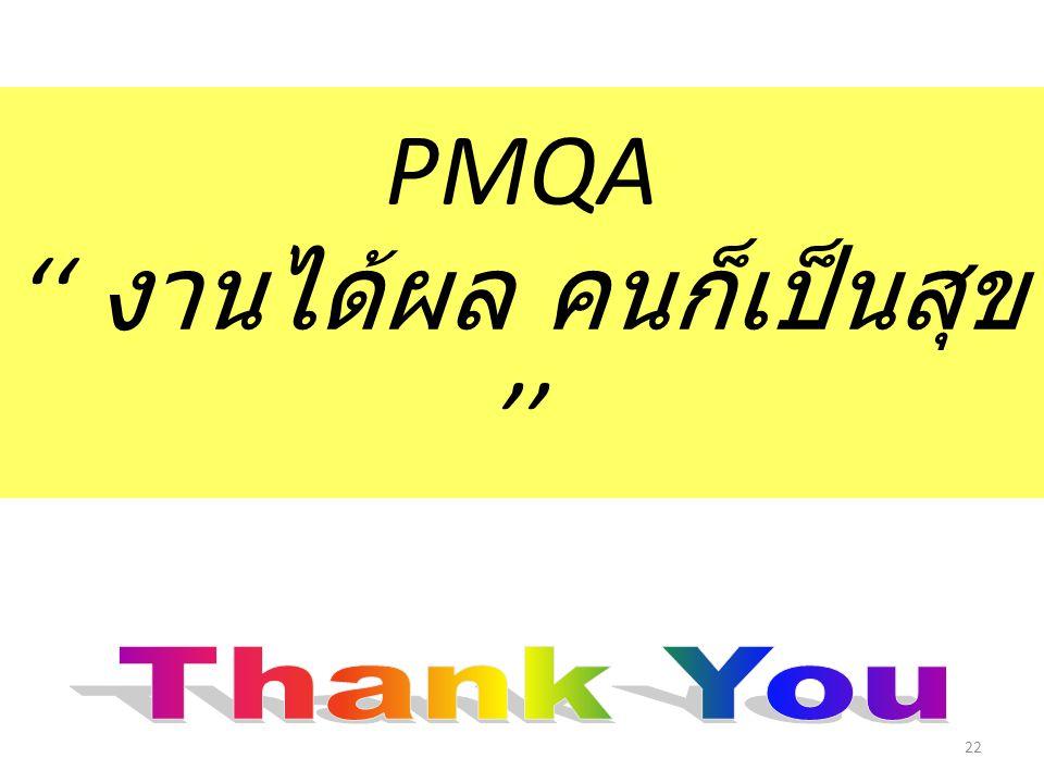 PMQA '' งานได้ผล คนก็เป็นสุข '' 22
