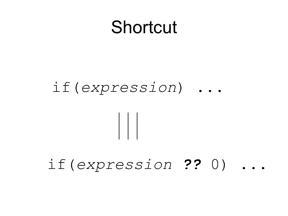 Shortcut if(expression ?? 0)... if(expression)...