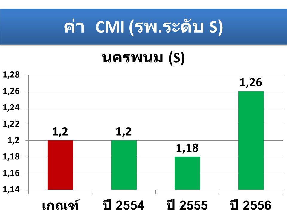ค่า CMI ( รพ. ระดับ S)