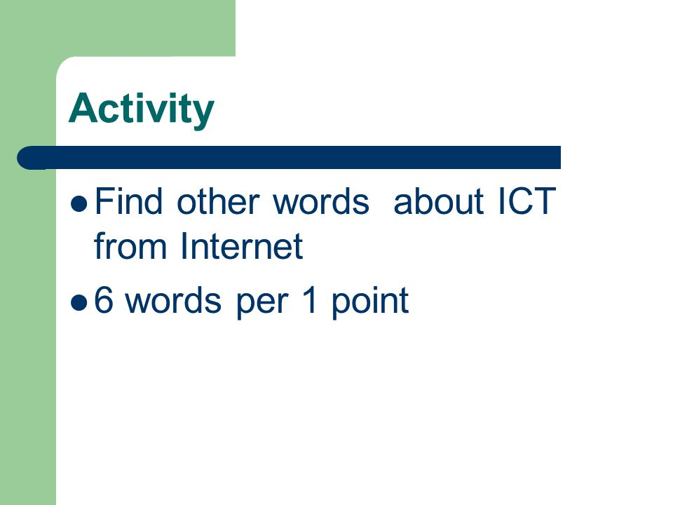 Keywords about ICT IT abstract from Information technology MIS abstract from Management Information System Database Computer Network Data Mining GIS abstract from Geographical Information System
