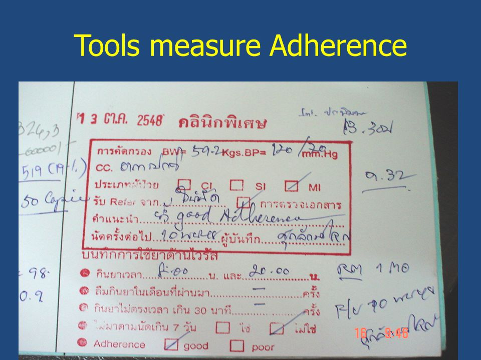 Tools measure Adherence